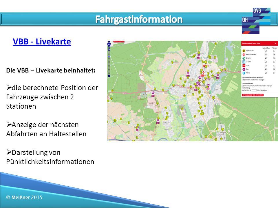 Fahrgastinformation VBB - Livekarte