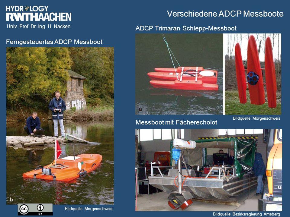 Verschiedene ADCP Messboote