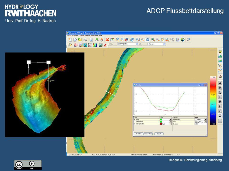 ADCP Flussbettdarstellung