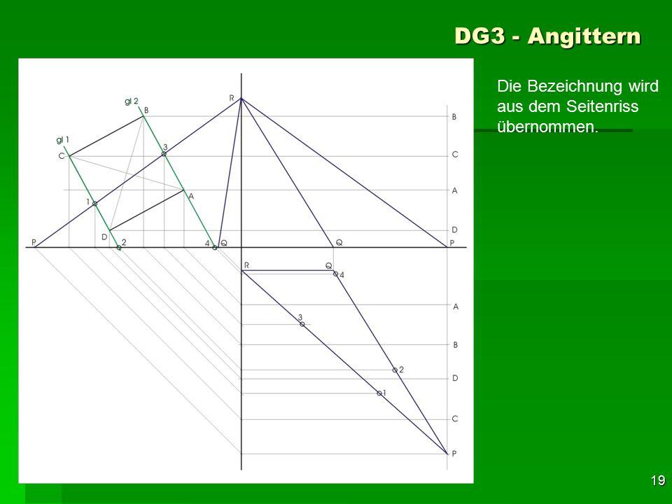 DG3 - Angittern Die Bezeichnung wird aus dem Seitenriss übernommen. 49