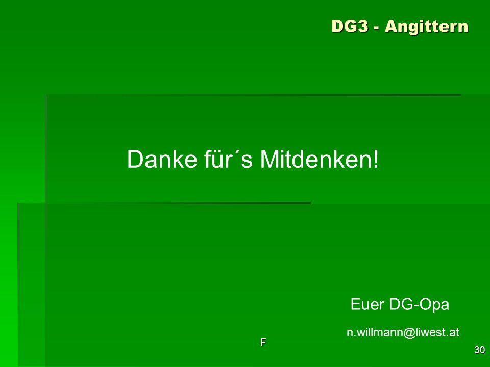 Danke für´s Mitdenken! DG3 - Angittern Euer DG-Opa