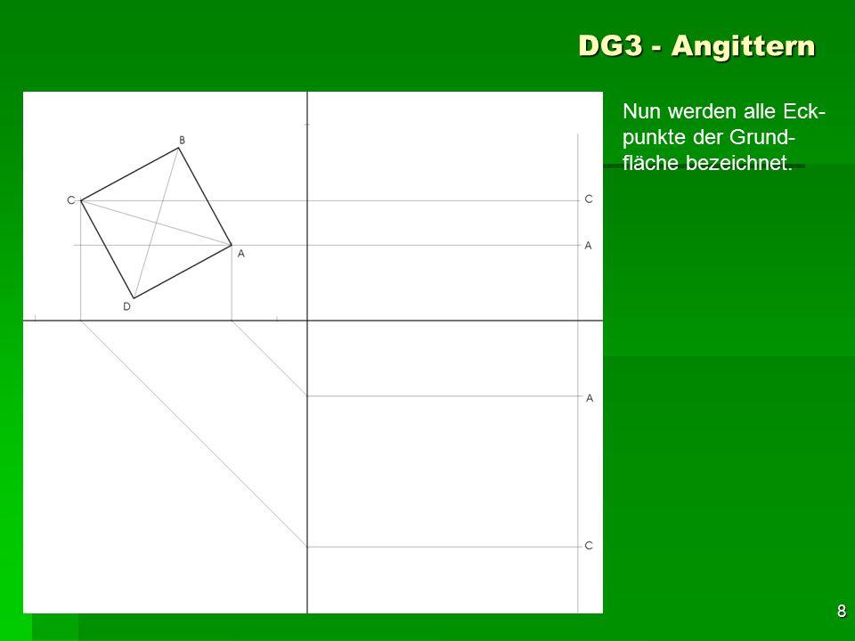 DG3 - Angittern Nun werden alle Eck-punkte der Grund-fläche bezeichnet. 38 F