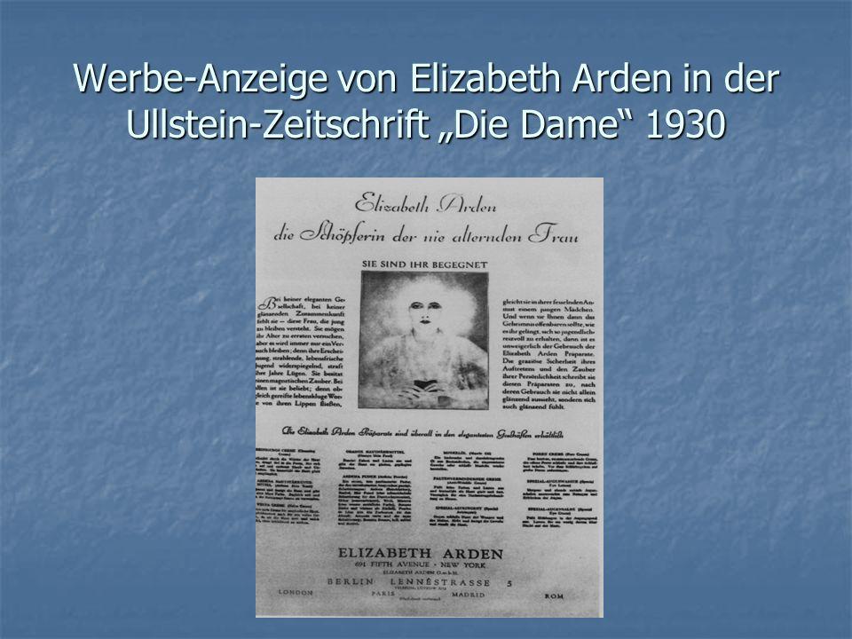 """Werbe-Anzeige von Elizabeth Arden in der Ullstein-Zeitschrift """"Die Dame 1930"""