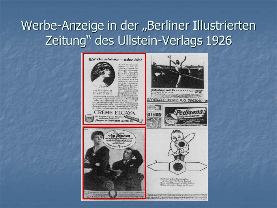 """Werbe-Anzeige in der """"Berliner Illustrierten Zeitung des Ullstein-Verlags 1926"""