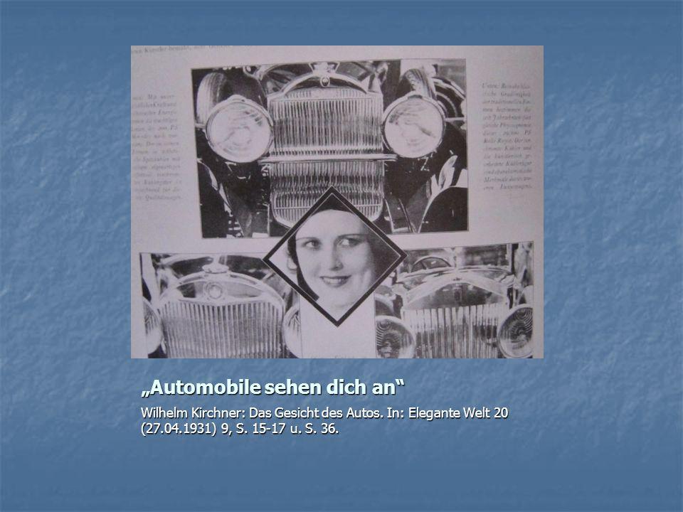 """Automobile sehen dich an"