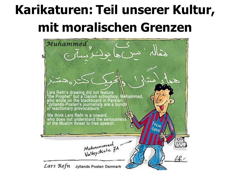Karikaturen: Teil unserer Kultur, mit moralischen Grenzen