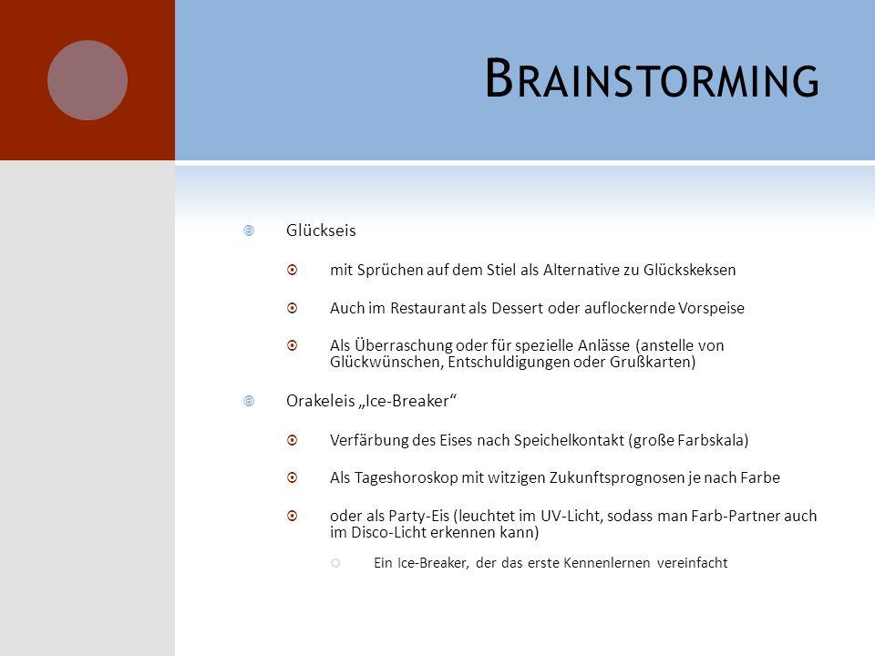"""Brainstorming Glückseis Orakeleis """"Ice-Breaker"""