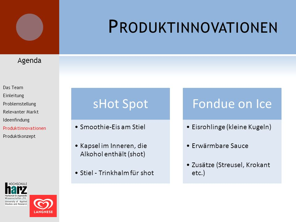 Produktinnovationen Agenda Smoothie-Eis am Stiel