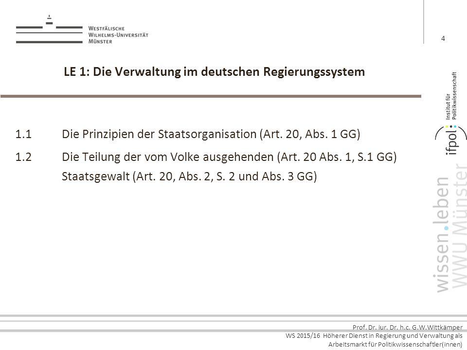 LE 1: Die Verwaltung im deutschen Regierungssystem
