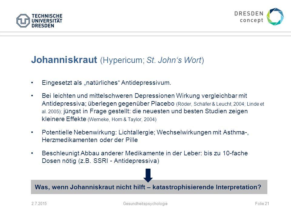 Johanniskraut (Hypericum; St. John's Wort)