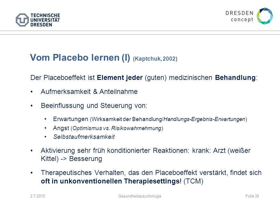 Vom Placebo lernen (I) (Kaptchuk, 2002)