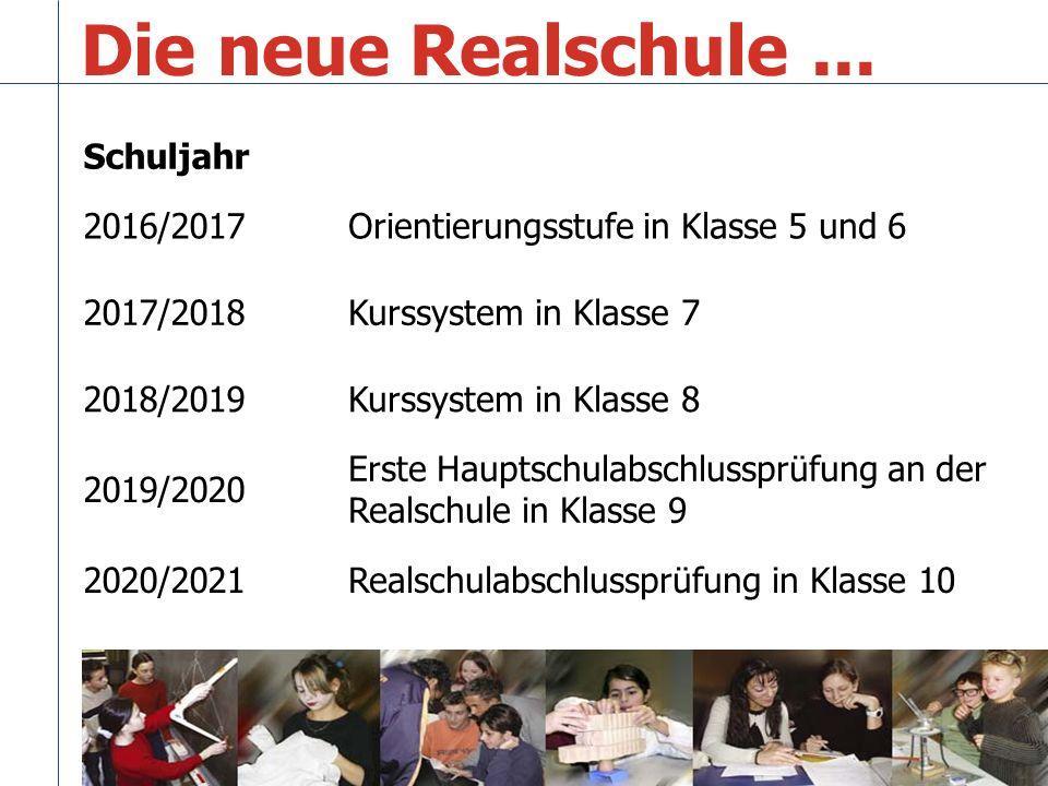 Die neue Realschule ... Schuljahr 2016/2017