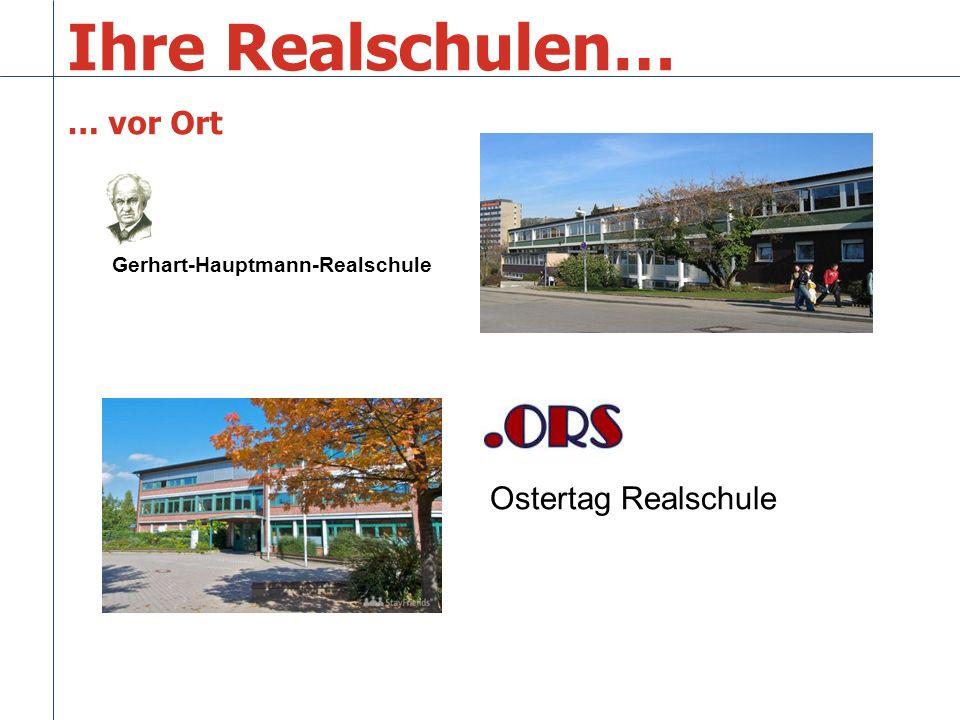 Ihre Realschulen… … vor Ort Ostertag Realschule