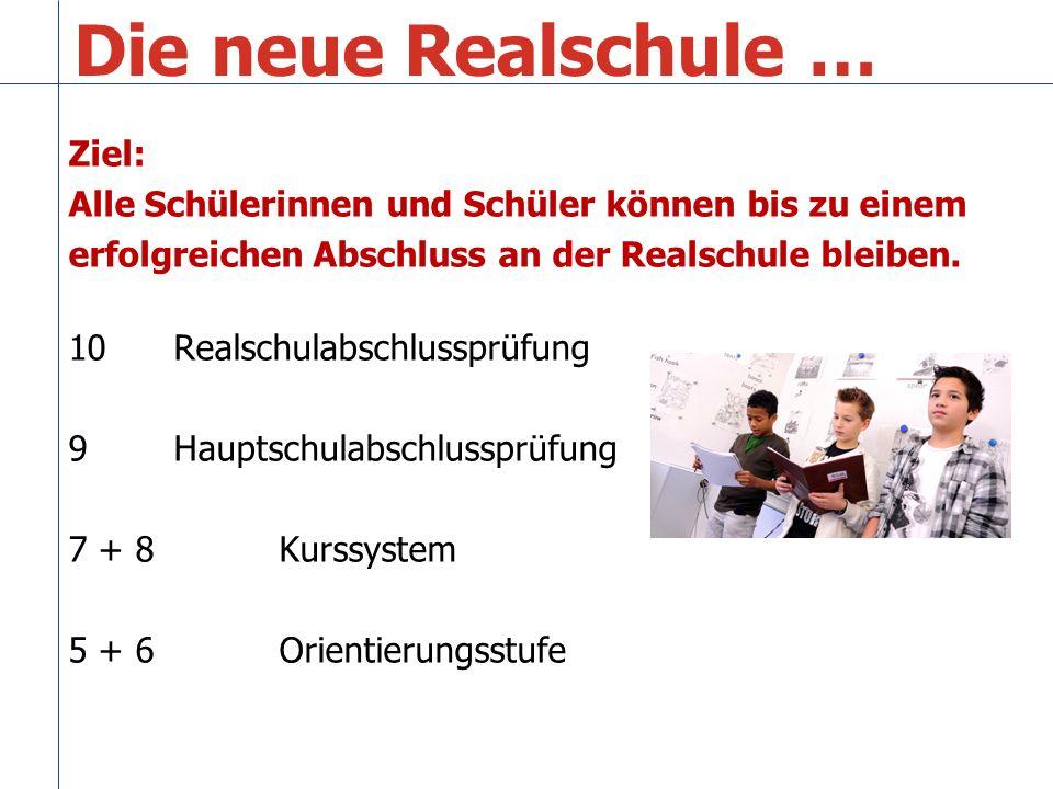 Die neue Realschule … Ziel: