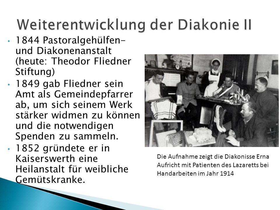 Weiterentwicklung der Diakonie II