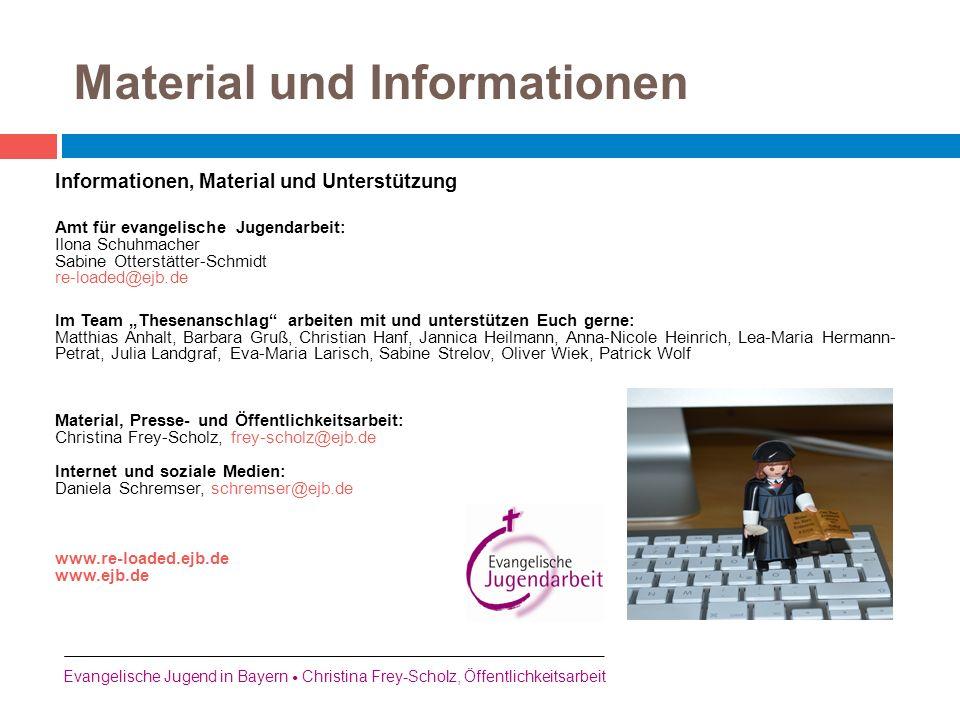 Material und Informationen