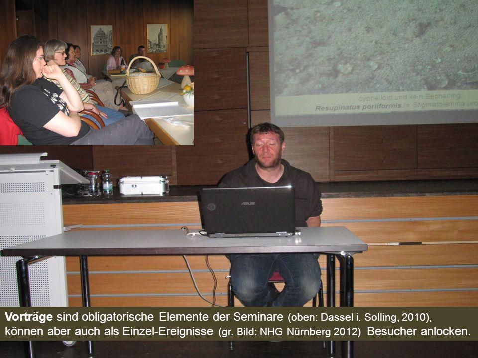 Vorträge sind obligatorische Elemente der Seminare (oben: Dassel i