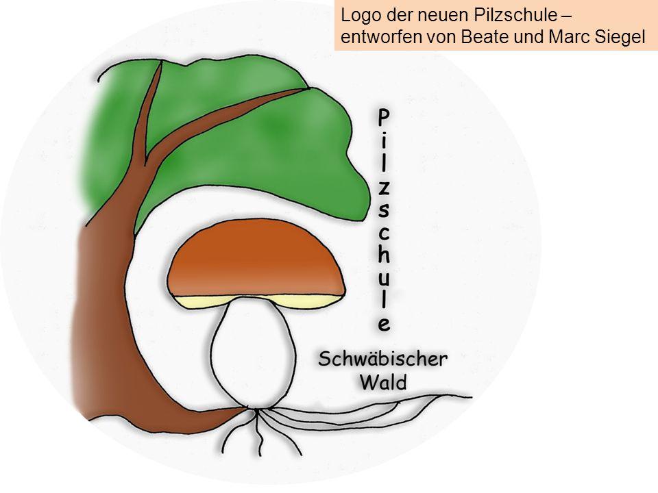 Logo der neuen Pilzschule – entworfen von Beate und Marc Siegel
