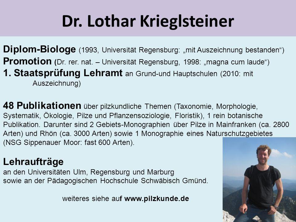 Dr. Lothar Krieglsteiner
