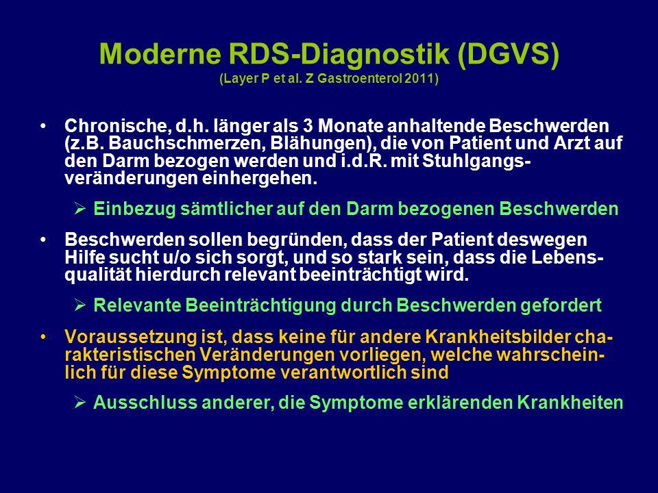 Moderne RDS-Diagnostik (DGVS) (Layer P et al. Z Gastroenterol 2011)
