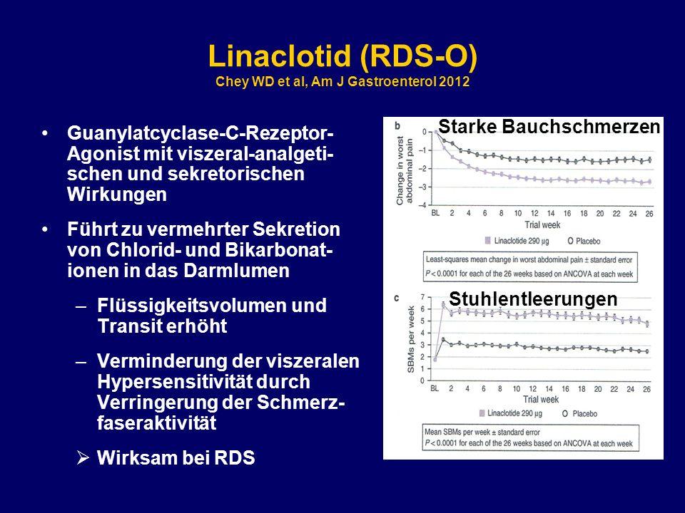 Linaclotid (RDS-O) Chey WD et al, Am J Gastroenterol 2012
