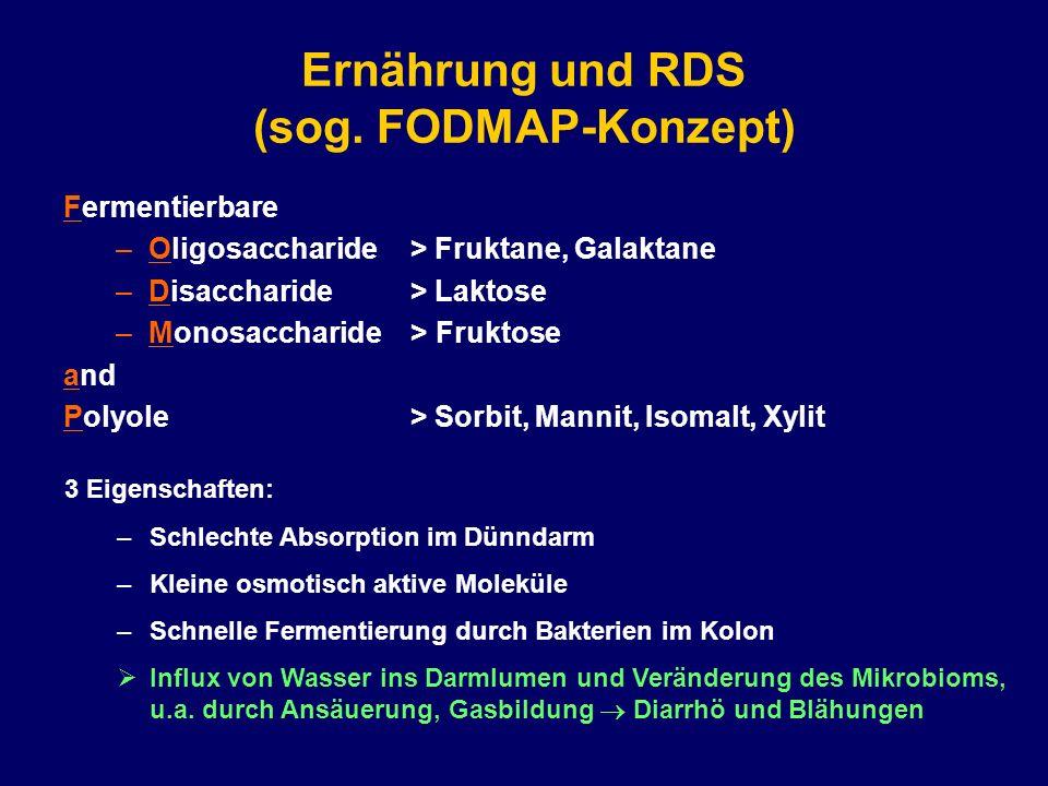Ernährung und RDS (sog. FODMAP-Konzept)