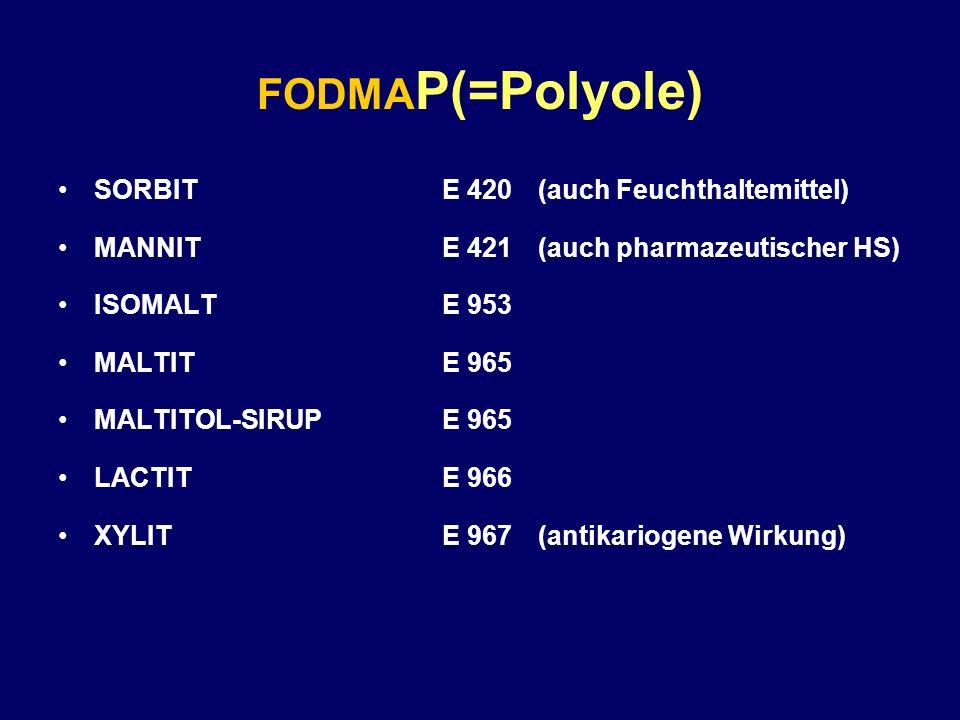 FODMAP(=Polyole) SORBIT E 420 (auch Feuchthaltemittel)