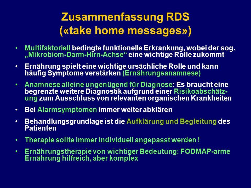 Zusammenfassung RDS («take home messages»)