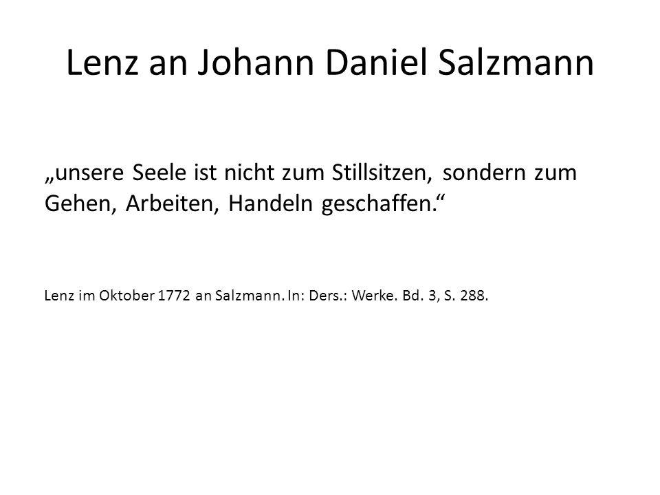 Lenz an Johann Daniel Salzmann