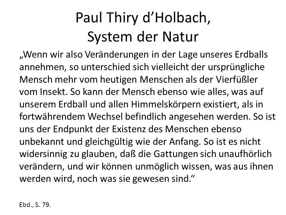 Paul Thiry d'Holbach, System der Natur