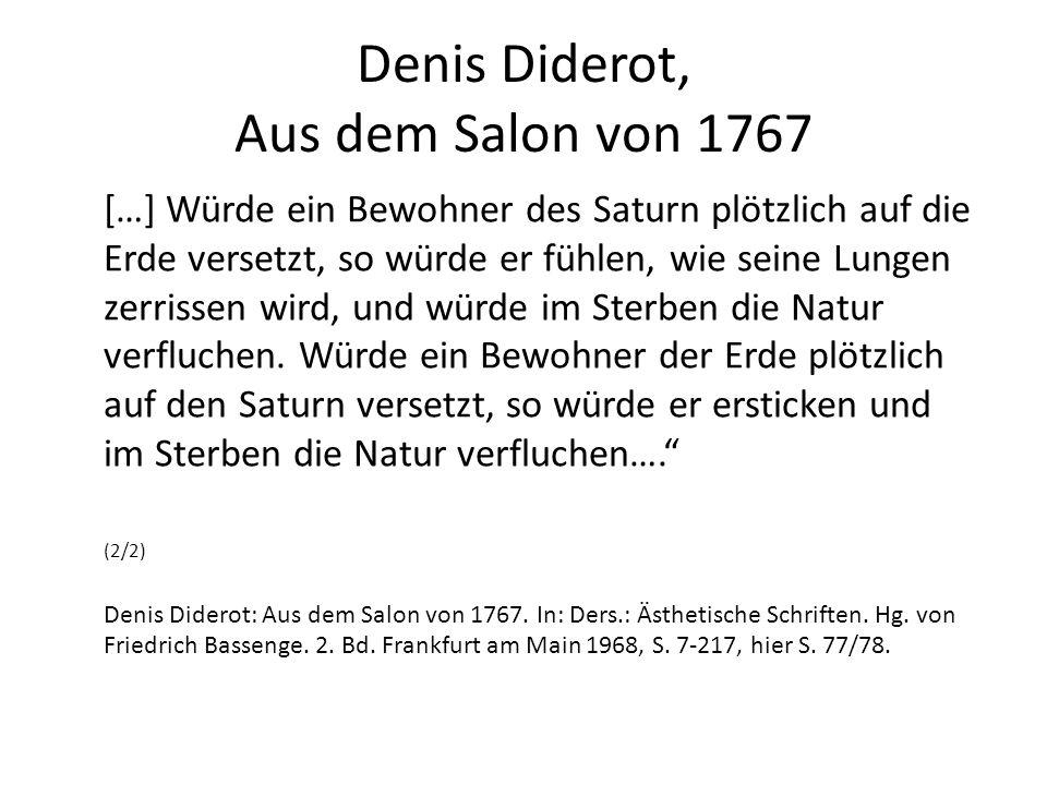 Denis Diderot, Aus dem Salon von 1767