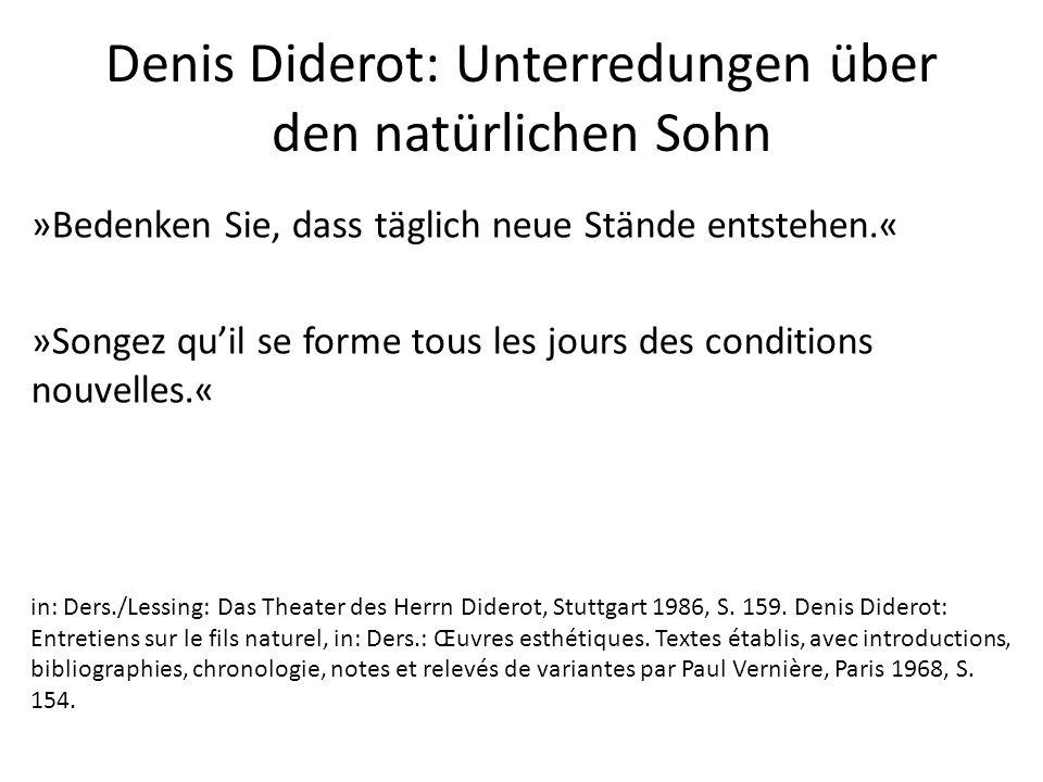 Denis Diderot: Unterredungen über den natürlichen Sohn