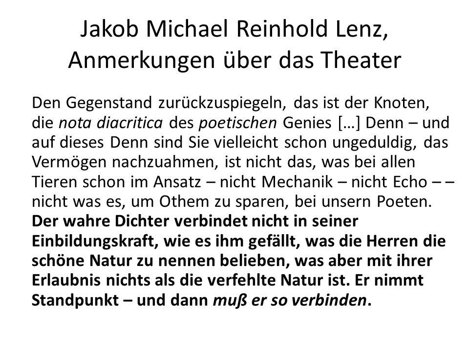 Jakob Michael Reinhold Lenz, Anmerkungen über das Theater