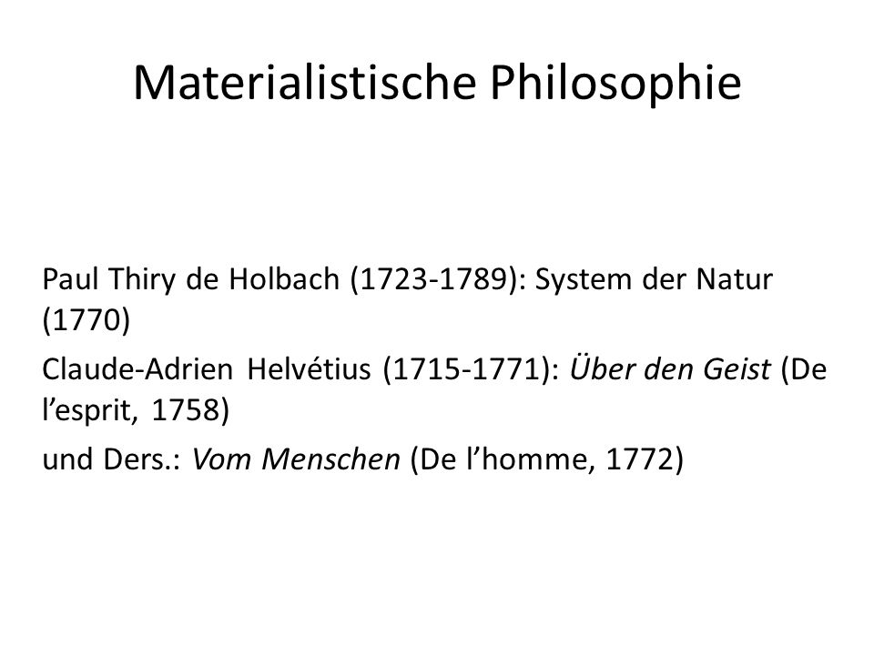 Materialistische Philosophie