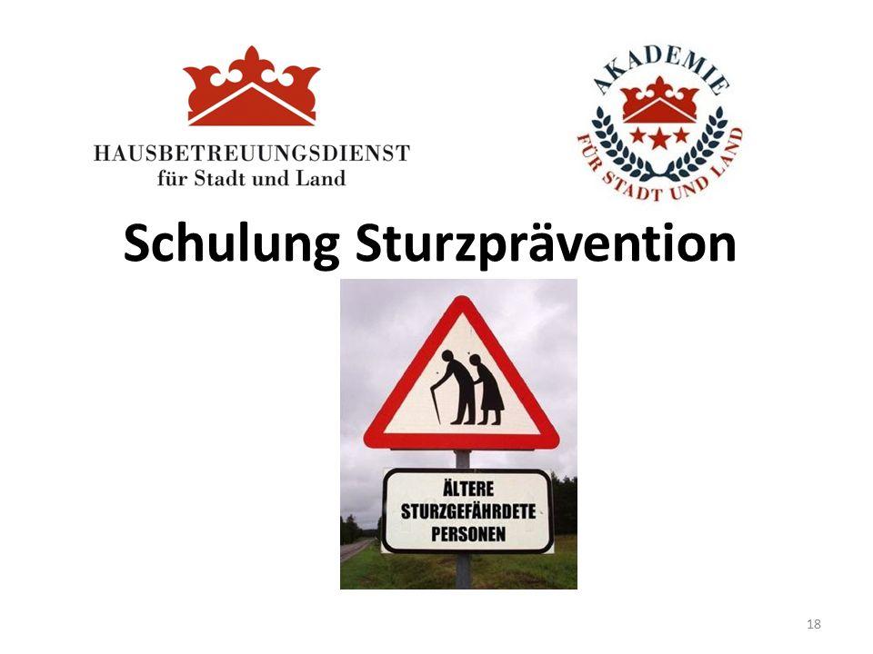 Schulung Sturzprävention