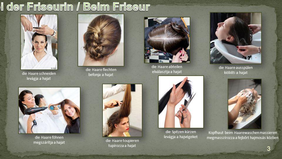 Bei der Friseurin / Beim Friseur