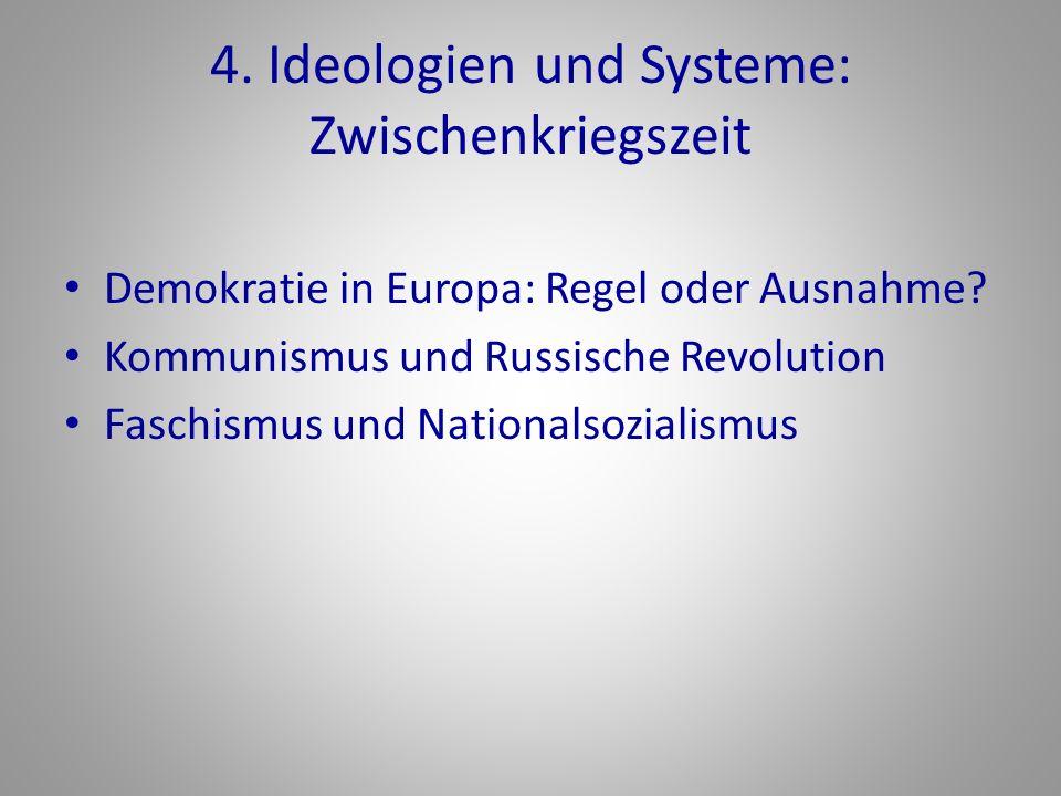 4. Ideologien und Systeme: Zwischenkriegszeit