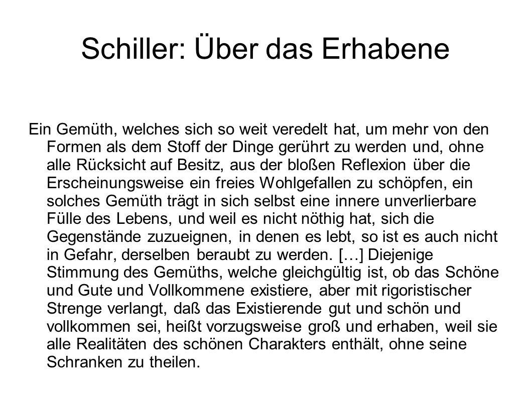 Schiller: Über das Erhabene