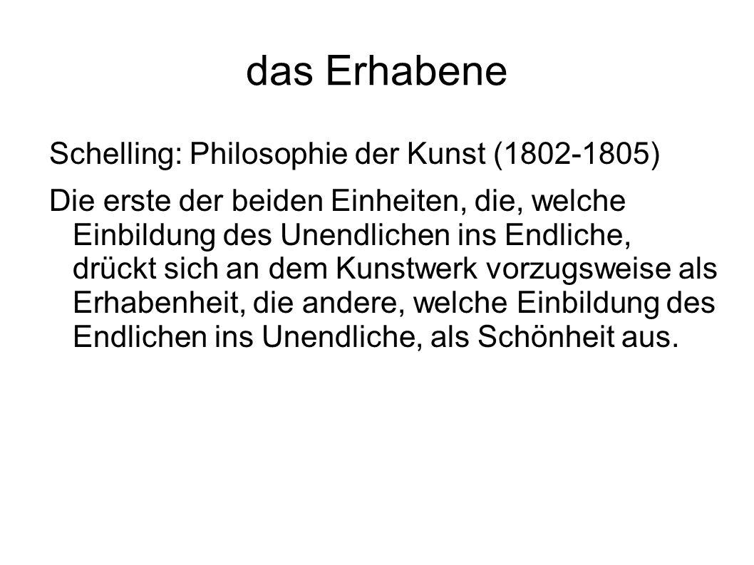 das Erhabene Schelling: Philosophie der Kunst (1802-1805)