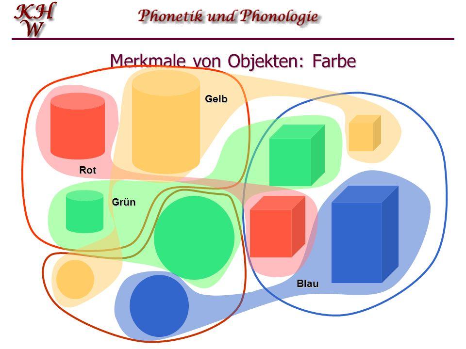 Merkmale von Objekten: Farbe
