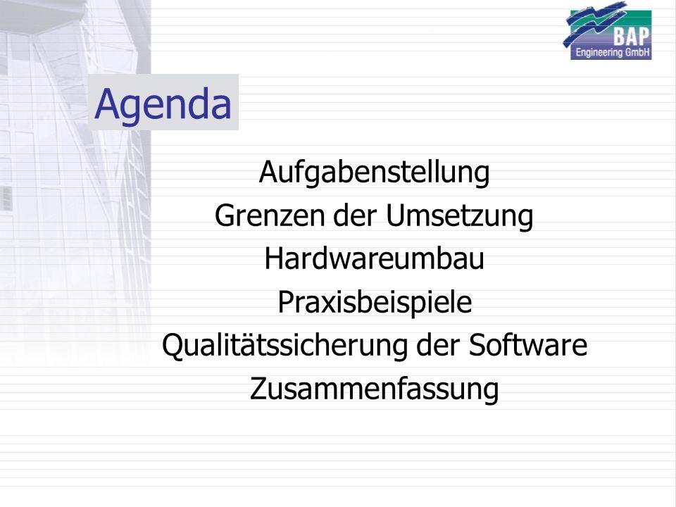Qualitätssicherung der Software
