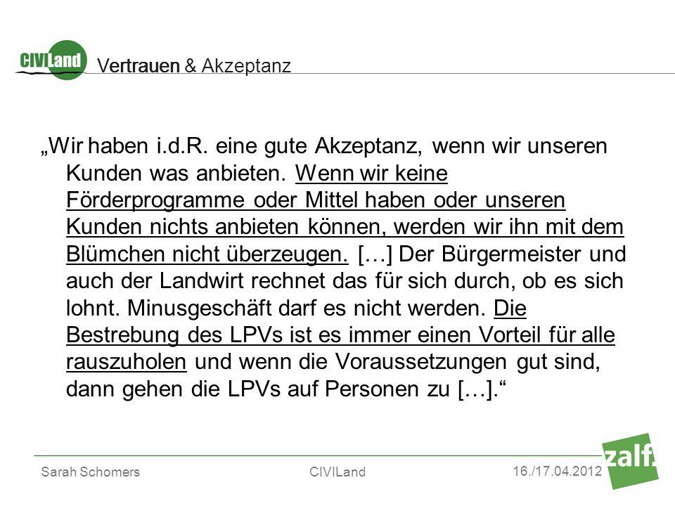 Vertrauen & AkzeptanzVertrauen.