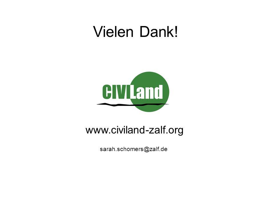 Vielen Dank! www.civiland-zalf.org sarah.schomers@zalf.de