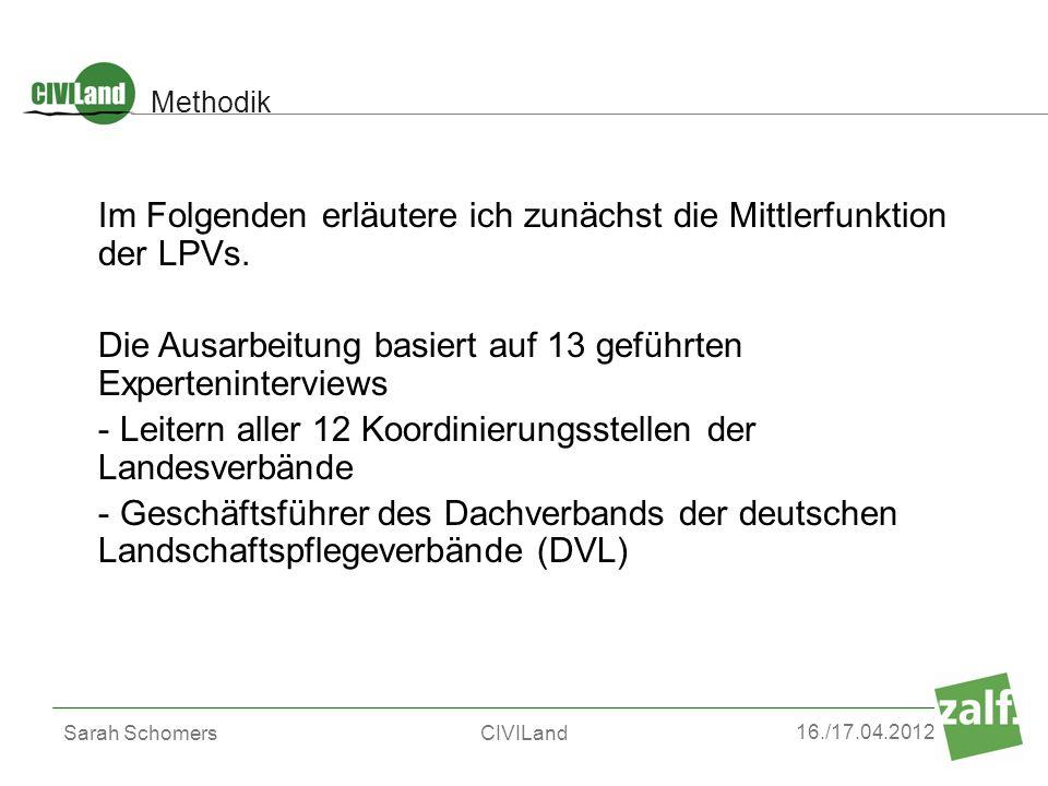 Im Folgenden erläutere ich zunächst die Mittlerfunktion der LPVs.