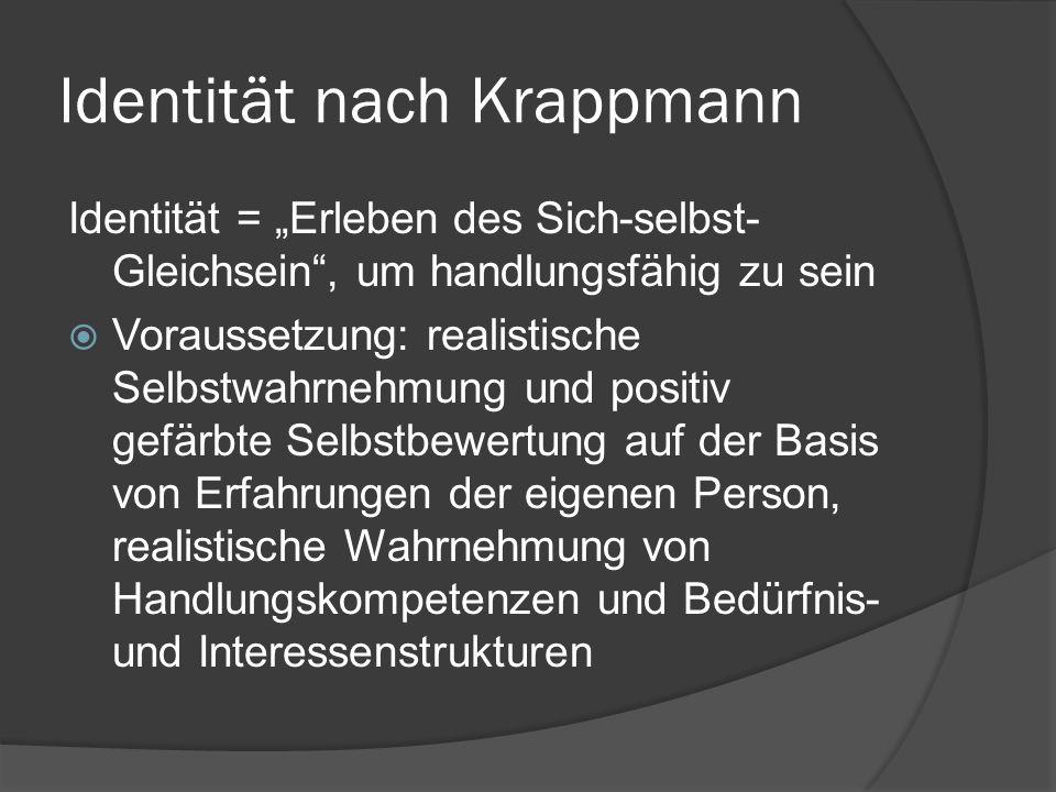 Identität nach Krappmann