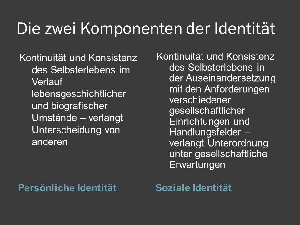 Die zwei Komponenten der Identität