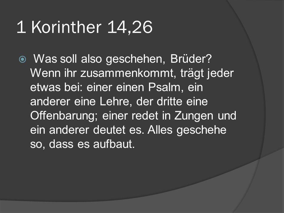 1 Korinther 14,26