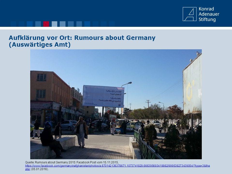 Aufklärung vor Ort: Rumours about Germany (Auswärtiges Amt)