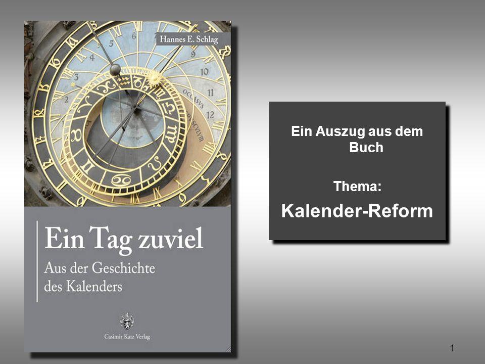 Ein Auszug aus dem Buch Thema: Kalender-Reform
