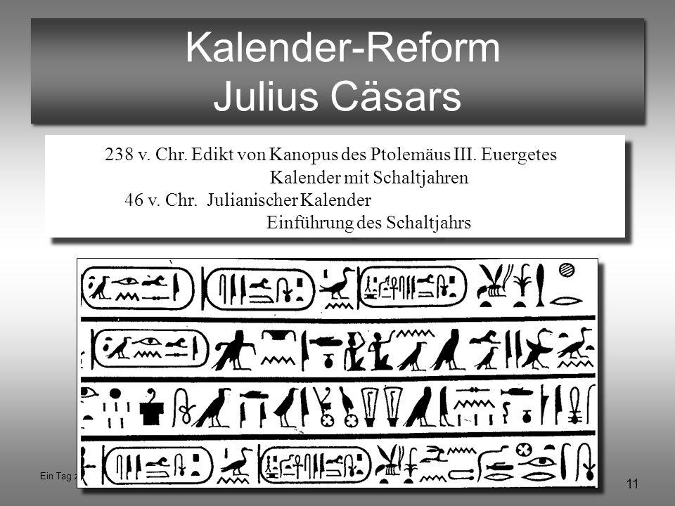 Kalender-Reform Julius Cäsars